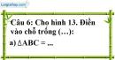 Phần câu hỏi bài 3 trang 116 Vở bài tập toán 7 tập 1