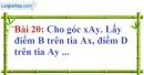 Bài 20 trang 122 Vở bài tập toán 7 tập 1