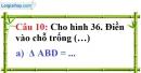 Phần câu hỏi bài 5 trang 124 Vở bài tập toán 7 tập 1