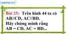 Bài 25 trang 127 Vở bài tập toán 7 tập 1