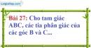 Bài 27 trang 128 Vở bài tập toán 7 tập 1