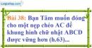 Bài 38 trang 136 Vở bài tập toán 7 tập 1