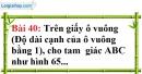 Bài 40 trang 137 Vở bài tập toán 7 tập 1