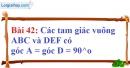 Bài 42 trang 139 Vở bài tập toán 7 tập 1