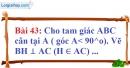 Bài 43 trang 139 Vở bài tập toán 7 tập 1