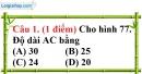 Đề kiểm tra 45 phút chương 2 phần Hình học 7 - Đề số 1