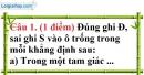 Đề kiểm tra 45 phút chương 2 phần Hình học 7 - Đề số 2