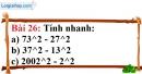 Bài 26 trang 24 Vở bài tập toán 8 tập 1