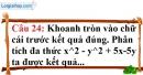 Phần câu hỏi bài 8 trang 25 Vở bài tập toán 8 tập 1