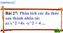 Bài 27 trang 25 Vở bài tập toán 8 tập 1