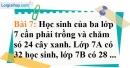 Bài 7 trang 57 Vở bài tập toán 7 tập 1