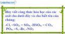 Câu 2 phần bài tập học theo SGK – Trang 140 Vở bài tập hoá 8