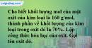Câu 4 phần bài tập học theo SGK – Trang 144 Vở bài tập hoá 8