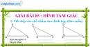Bài 85 : Hình tam giác