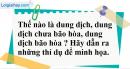 Câu 1 phần bài tập học theo SGK – Trang 152 Vở bài tập hoá 8