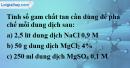 Câu 6 phần bài tập học theo SGK – Trang 159 Vở bài tập hoá 8