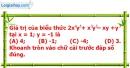 Phần câu hỏi bài 2 trang 31 Vở bài tập toán 7 tập 2
