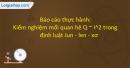 Báo cáo thực hành: Kiểm nghiệm mối quan hệ Q ~ I^2 trong định luật Jun - len - xơ