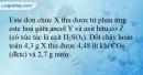 Bài 1.12 trang 5 SBT Hóa học 12