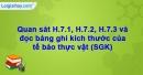 Mục 1,2,3, ghi nhớ trang 13,14 Vở bài tập Sinh học 6