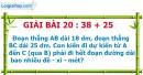 Bài 20 : 38 + 25