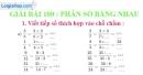 Bài 100 : Phân số bằng nhau
