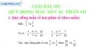 Bài 103 : Quy đồng mẫu số các phân số