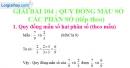 Bài 104 : Quy đồng mẫu số các phân số (tiếp theo)