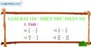 Bài 118 : Phép trừ phân số
