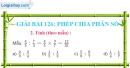 Bài 126 : Phép chia phân số