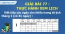 Bài 77 : Thực hành xem lịch