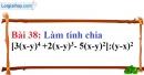 Bài 38 trang 33 Vở bài tập toán 8 tập 1