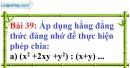Bài 39 trang 36 Vở bài tập toán 8 tập 1