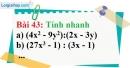 Bài 43 trang 37 Vở bài tập toán 8 tập 1