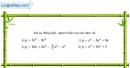 Bài 1.1 trang 7 SBT giải tích 12