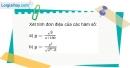 Bài 1.3 trang 8 SBT giải tích 12