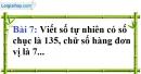 Bài 7 trang 9 Vở bài tập toán 6 tập 1