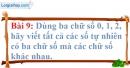 Bài 9 trang 10 Vở bài tập toán 6 tập 1