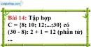 Bài 14 trang 13 Vở bài tập toán 6 tập 1