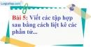 Bài 5 trang 8 Vở bài tập toán 6 tập 1