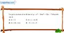Bài 1.15 trang 9 SBT giải tích 12