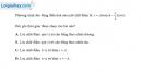 Bài 1.5, 1.6, 1.7 trang 3, 4 SBT Vật Lí 12