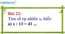 Bài 22 trang 19 Vở bài tập toán 6 tập 1