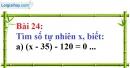 Bài 24 trang 20 Vở bài tập toán 6 tập 1