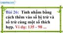 Bài 26 trang 21 Vở bài tập toán 6 tập 1