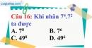 Phần câu hỏi bài 7 trang 23, 24 Vở bài tập toán 6 tập 1