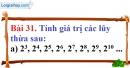 Bài 31 trang 24 Vở bài tập toán 6 tập 1