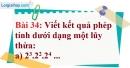 Bài 34 trang 26 Vở bài tập toán 6 tập 1