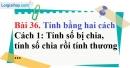 Bài 36 trang 27 Vở bài tập toán 6 tập 1