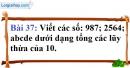 Bài 37 trang 28 Vở bài tập toán 6 tập 1